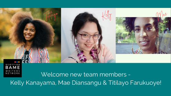 Welcome new team members, Kelly Kanayama, Mae Diansangu and Titilayo Farukuoye!