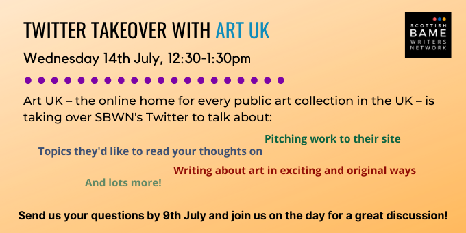 Art UK Twitter takeover – 14th July 2021